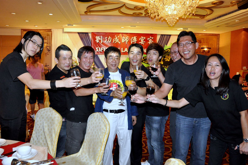 Congratulations & Cheers to Sifu Sam Lau from new Bai Si Disciples