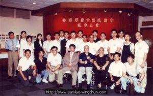 Group photo for Kung-fu brother Lok Yiu and his police disciples